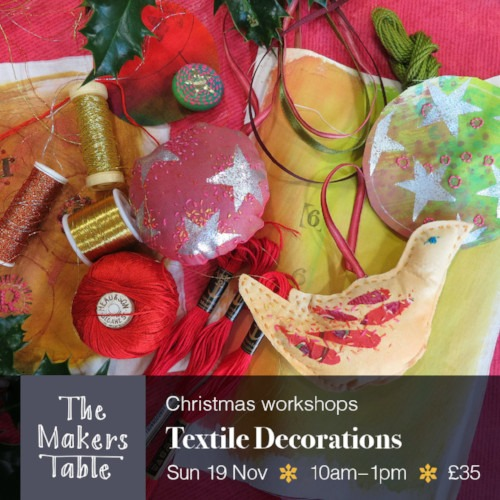 textile decoration - the makers table