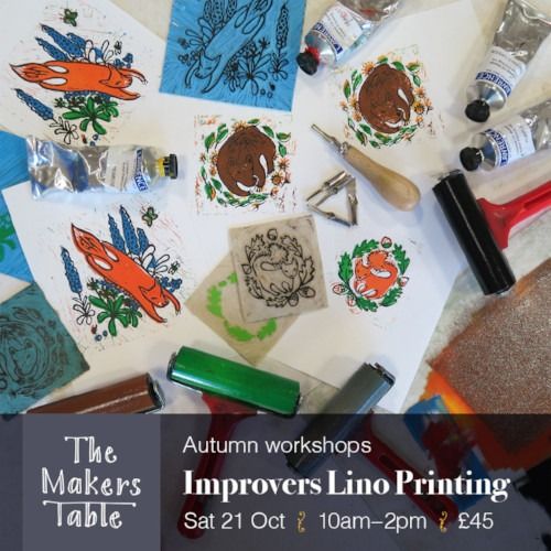 improvers lino printing - the makers table