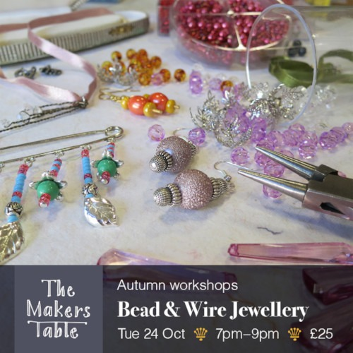 bead and wire jewellery - the makers table