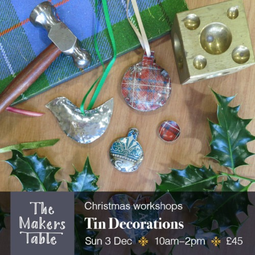 tin decorations - the makers table