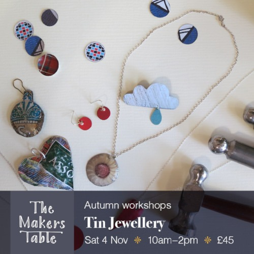 tin jewellery - the makers table