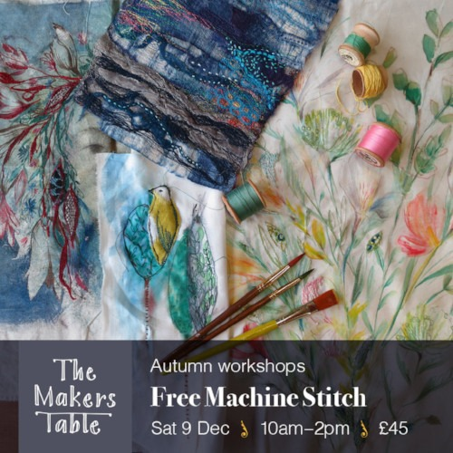 free machine stitch - the makers table