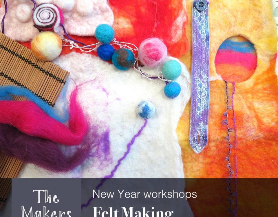 felt making workshop - the makers table