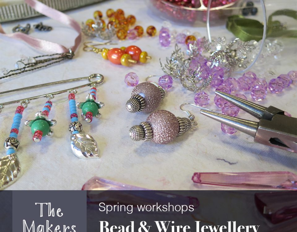 bead and wire jewellery workshop - the makers table