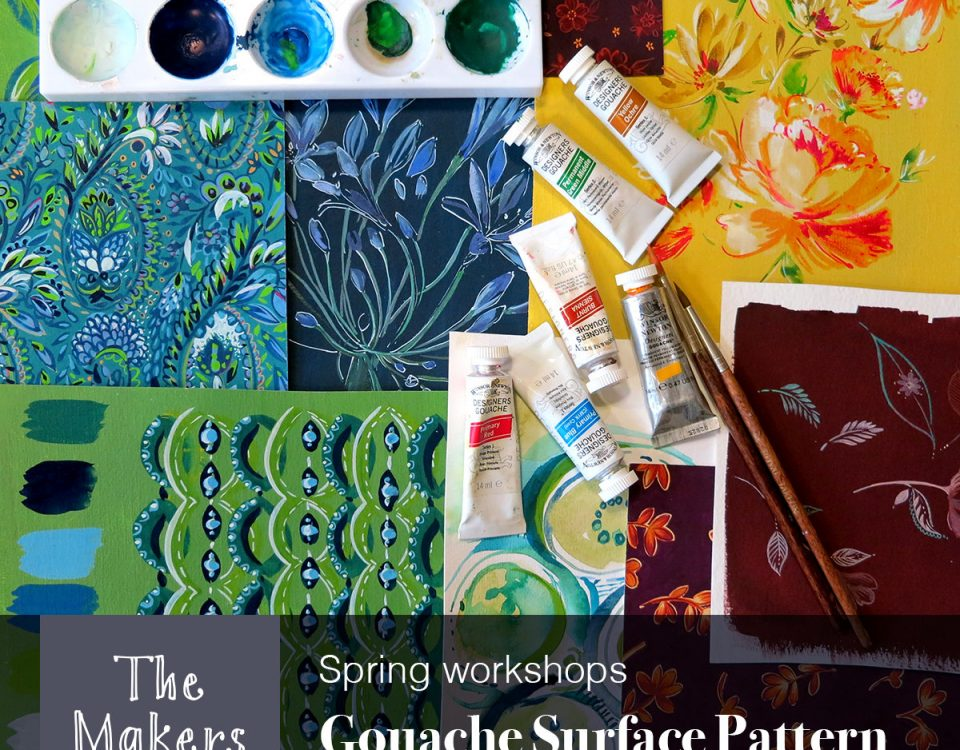 gouache surface pattern workshop - the makerst table