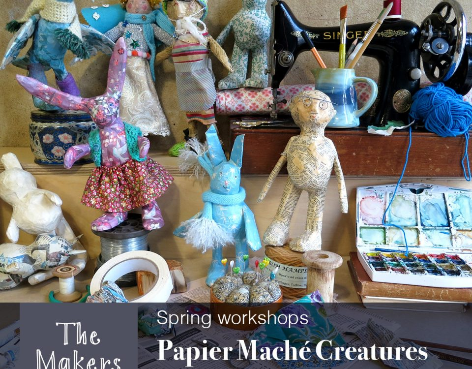 papier mache creatures workshop - the makers table