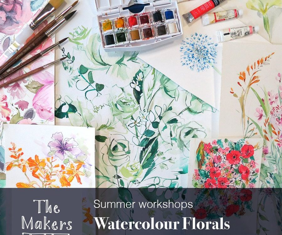 watercolour florals workshops - the makers table