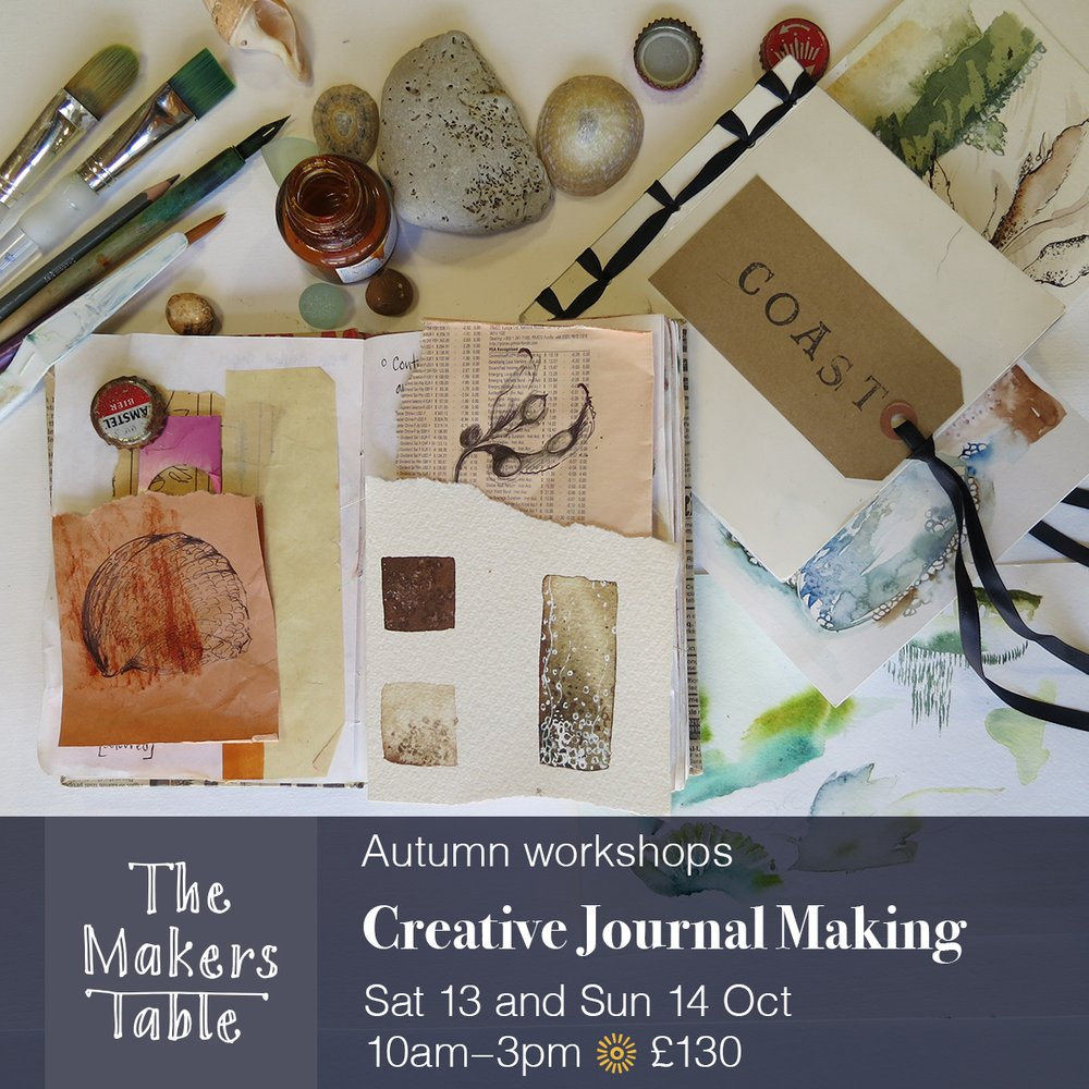 Creative Journal Making Workshop - the makers table