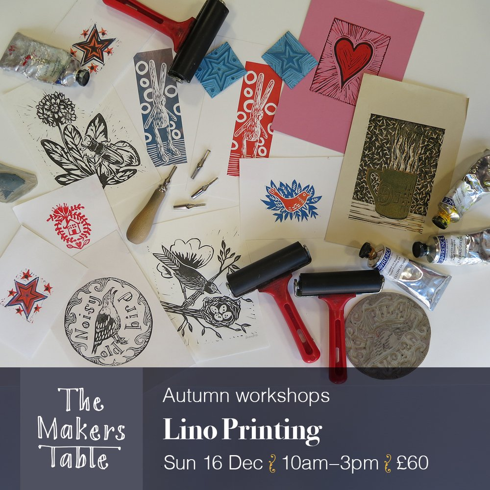 Lino Printing Workshop - The Makers Table