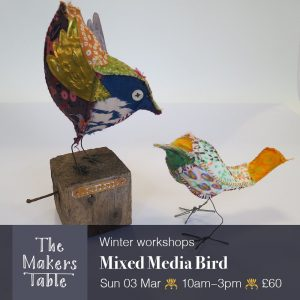 3d birds made from fabric and wire