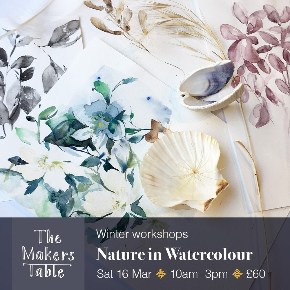 watercolour paintings of blue and purple flowers