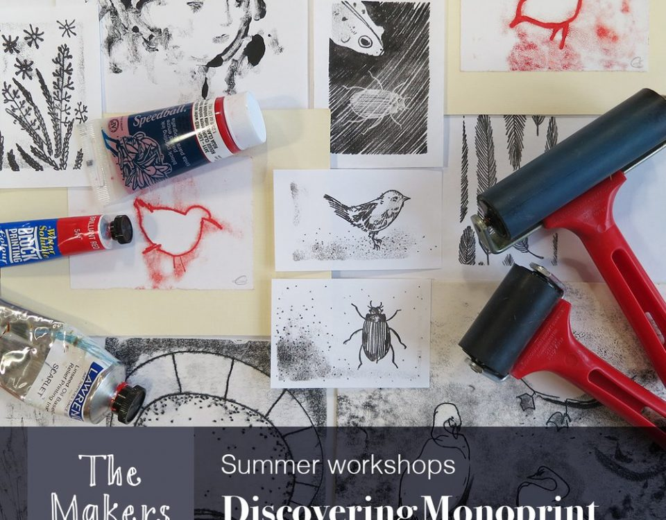 monoprint - The Makers Table Worshops