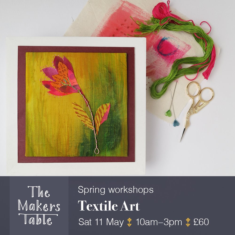 textile art workshop - The Makers Table