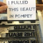 Pompey print from stamps