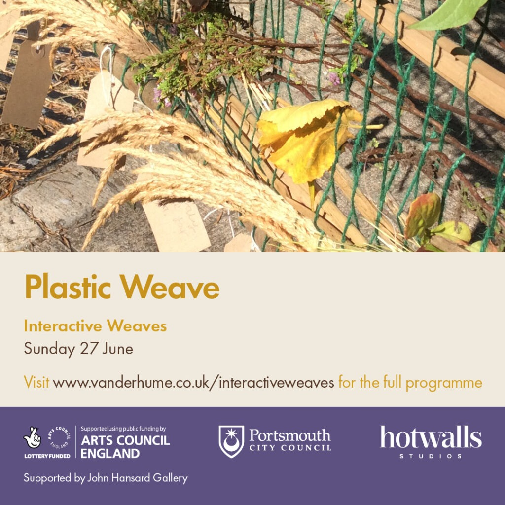 Plastic Weaves poster promoting the event for Sunday 27th June